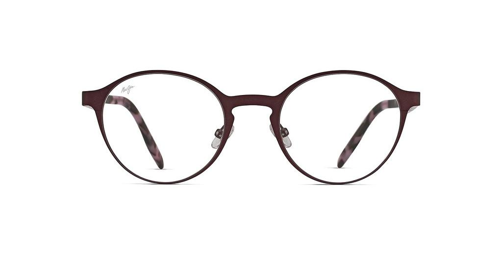 Maui Jim   MJO2102 84M Matte Burgundy with Marble Temples