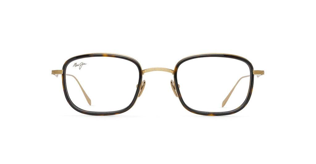Maui Jim   MJO2423 10A Shiny Gold with Dark Tortoise Acetate Rim