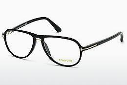 Designer briller Tom Ford FT5380 001 - Sort, Shiny