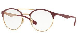 Ray-Ban RX3545V 3007 PINK GOLD ON TOP MATTE BORDEAU
