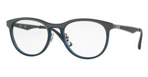 Ray-Ban RX7116 5679 MATTE TRASPARENT GREY/BLUE