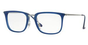 Ray-Ban RX7141 5752 TRASPARENT BLUE