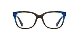 Maui Jim MJO2402 68SF Dark Tortoise with Translucent Blue with Sea Fan Core