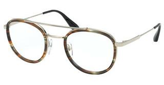 Prada PR 66XV 06A1O1 STRIPED BROWN/PALE GOLD