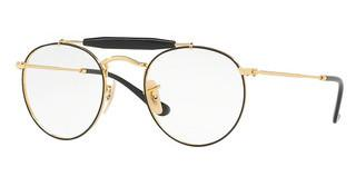 Ray-Ban RX3747V 2946 GOLD TOP BLACK