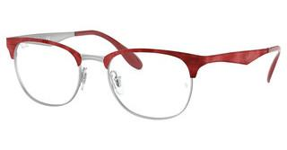 Ray-Ban RX6346 3021 MT SILVER TOP MATTE RED MOVE