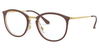 Ray-Ban RX7140 5971 TOP BROWN ON TRASP BROWN