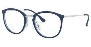 Ray-Ban RX7140 5972 TOP BLUE ON TRASP BLUE