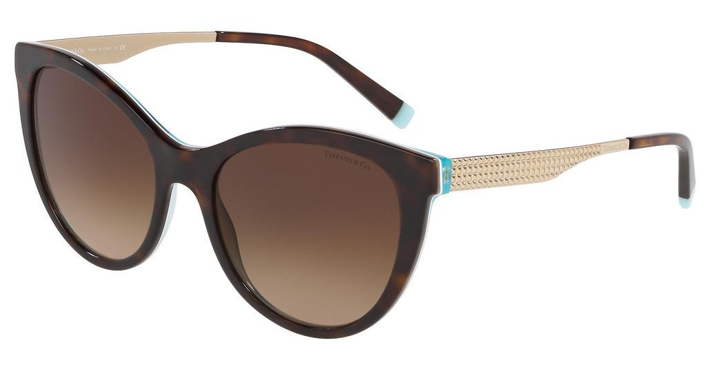 Tiffany   TF4159 82753B BROWN GRADIENTHAVANA/CRYSTAL BLUE