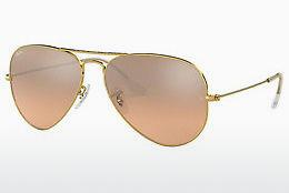 Solbriller Ray-Ban AVIATOR LARGE METAL (RB3025 001/3E) - Guld