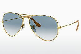 Solbriller Ray-Ban AVIATOR LARGE METAL (RB3025 001/3F) - Guld