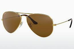 Solbriller Ray-Ban AVIATOR LARGE METAL (RB3025 001/57) - Guld