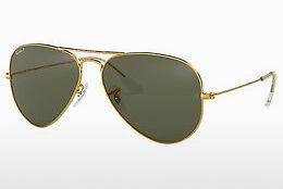 Solbriller Ray-Ban AVIATOR LARGE METAL (RB3025 001/58) - Guld