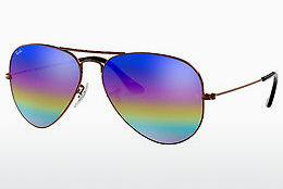 Solbriller Ray-Ban AVIATOR LARGE METAL (RB3025 9019C2) - Grå, Brun