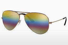Solbriller Ray-Ban AVIATOR LARGE METAL (RB3025 9020C4) - Grå, Brun
