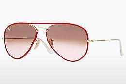 Solbriller Ray-Ban AVIATOR FULL COLOR (RB3025JM 001/X3) - Rød