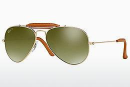 Solbriller Ray-Ban AVIATOR CRAFT (RB3422Q 001/M9) - Guld, Brun