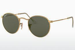 Solbriller Ray-Ban ROUND METAL (RB3447 112/58) - Guld