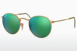 Solbriller Ray-Ban ROUND METAL (RB3447 112/P9) - Guld
