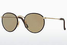 Solbriller Ray-Ban ROUND CRAFT (RB3475Q 112/53) - Guld, Brun