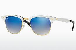 Solbriller Ray-Ban CLUBMASTER ALUMINUM (RB3507 137/7Q) - Hvid
