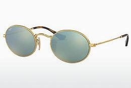 Solbriller Ray-Ban Oval (RB3547N 001/30) - Guld