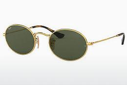 Solbriller Ray-Ban Oval (RB3547N 001) - Guld