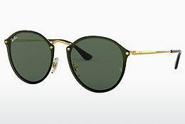 Solbriller Ray-Ban Blaze Round (RB3574N 001/71) - Guld