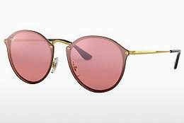 Solbriller Ray-Ban Blaze Round (RB3574N 001/E4) - Guld