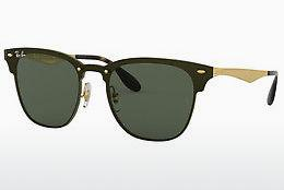 Solbriller Ray-Ban Blaze Clubmaster (RB3576N 043/71) - Guld