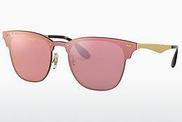 Solbriller Ray-Ban Blaze Clubmaster (RB3576N 043/E4) - Rosa, Guld