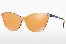 Solbriller Ray-Ban Blaze Cat Eye (RB3580N 90377J) - Orange, Blå
