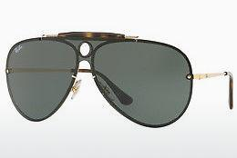Solbriller Ray-Ban Blaze Shooter (RB3581N 001/71) - Guld