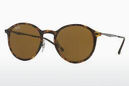 Solbriller Ray-Ban Round Light Ray (RB4224 894/73) - Brun, Havanna