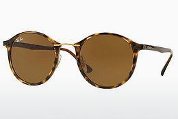 Solbriller Ray-Ban Round Ii Light Ray (RB4242 710/73) - Brun, Havanna