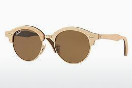 Solbriller Ray-Ban Clubround Wood (RB4246M 117957) - Guld
