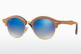 Solbriller Ray-Ban Clubround Wood (RB4246M 11807Q) - Guld