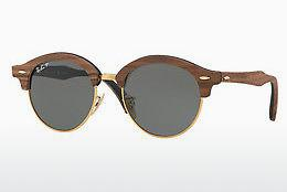 Solbriller Ray-Ban Clubround Wood (RB4246M 118158) - Guld