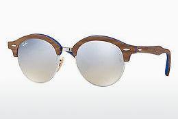 Solbriller Ray-Ban Clubround Wood (RB4246M 12179U) - Sølv