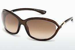 Solbriller Tom Ford Jennifer (FT0008 692) - Brun, Dark, Shiny