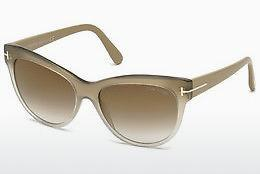 Solbriller Tom Ford Lily (FT0430 59G) - Horn, Beige, Brown