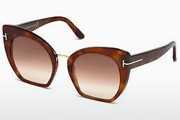 Solbriller Tom Ford Samantha (FT0553 53F) - Havanna, Yellow, Blond, Brown