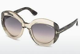 Solbriller Tom Ford FT0581 59B - Horn, Beige, Brown