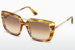 Solbriller Tom Ford FT0619 47F - Brun, Bright