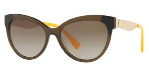 Versace VE4338 524613 BROWN GRADIENTTRANSPARENT GREEN/YELLOW