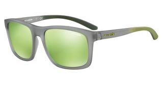 Arnette AN4233 24238N LIGHT GREEN MIRROR GREENMATTE TRANSPERENT GREY