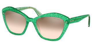 Miu Miu MU 05US 144QZ9 GRADIENT BROWN MIRROR SILVERGLITTER GREEN