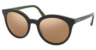 Prada PR 02XS 542HD0 DARK BROWN MIRROR GOLDTOP BLACK/GREEN