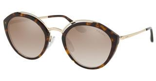 Prada PR 18US 2AU4P0 BROWN GRAD GREY MIRROR SILVERHAVANA/PALE GOLD