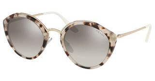 Prada PR 18US UAO5O0 GRADIENT GREY MIRROR SILVERSPOTTED OPAL BROWN/PALE GOLD